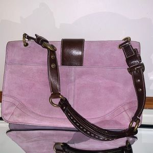 🔥💯  Authentic COACH Purple Suede Leather bag 🔥